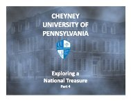 Distinguished Faculty and Administration - Cheyney University of ...