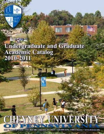 2010-2011 Academic Catalog - Cheyney University of Pennsylvania