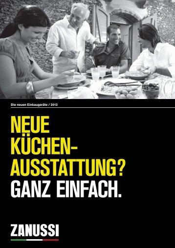 Die neuen Einbaugeräte / 2012 - Zanussi