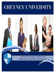 continuing education and lifelong learning offerings - Cheyney ...