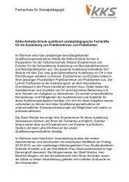 Fachschule für Sozialpädagogik - Käthe-Kollwitz-Schule Wetzlar