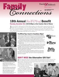 Fall/Winter 2012 Vol. 16 No. 3 - Family & Children's Service of Ithaca