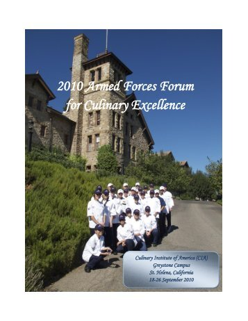 2010 Armed Forces Forum for Culinary Excellence Attendees