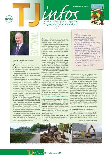 TJinfos n°46 du mois de septembre 2010 - site mairie Tignieu ...