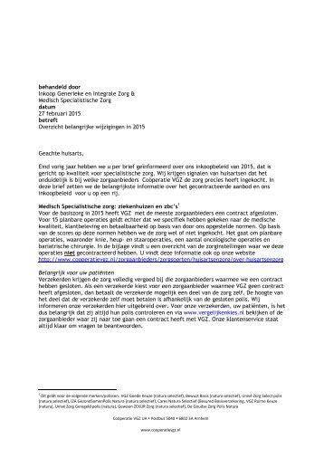 brief huisartsen belangrijke wijzigingen 2015 incl bijlagen 1 en 2-definitief