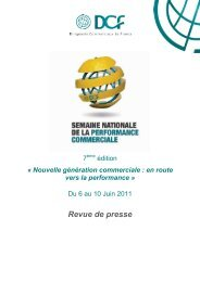 Performance commerciale. - DCF