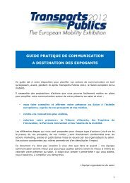 Guide pratique de communication - Transports publics