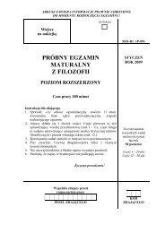próbny egzamin maturalny z filozofii poziom rozszerzony