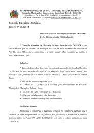 Parecer nº 09, de 03 de setembro de 2012 - Prefeitura de Santa ...