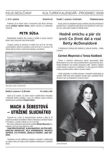 Radnice prosinec 09.indd - Kulturní dům Josefa Suka - Sedlčany
