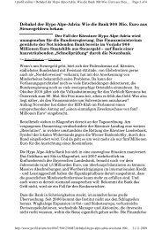 Debakel der Hypo Alpe-Adria: Wie die Bank 900 Mio. Euro aus ...