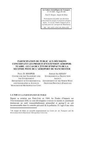 participation du public aux décisions concernant les projets d ... - afitl