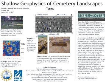 Shallow Geophysics of Cemetery Landscapes - Fiske Center