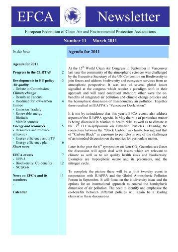 Newsletter 11 - March 2011 - EFCA
