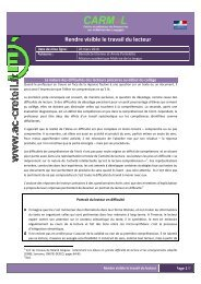6e-5e Rendre visible le travail du lecteur - Centre académique de ...