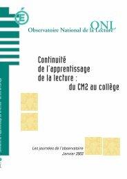 Mep ONL 2003 - Centre académique de ressources sur la maîtrise ...