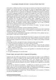 Les pratiques artisanales de lecture - Centre académique de ...