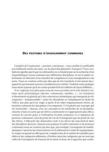 Des postures d'enseignement communes - Centre académique de ...
