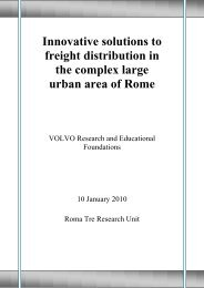 Innovative solutions to freight distribution in the complex large urban ...