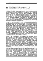 EL SEÑORÍO DE METZTITLÁN