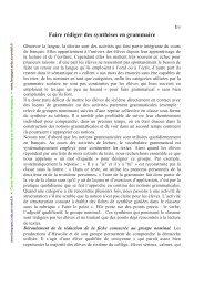 Faire rédiger des synthèses en grammaire - Centre académique de ...