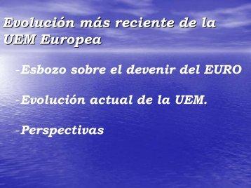 """""""Retos de la Unión Monetaria Europea"""". - CIEM"""