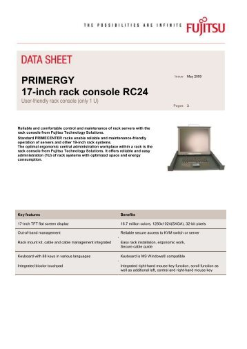 Data sheet: PRIMERGY Rack console RC24 - Cnet Nettailer