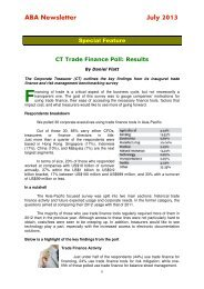 Special Feature - CT Trade Finance Poll