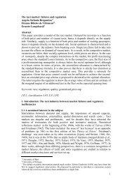 1 The taxi market: failures and regulation Angela ... - Sietitalia.org