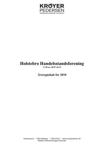 Årsregnskab for 2010 - Holstebro Handelsstandsforening