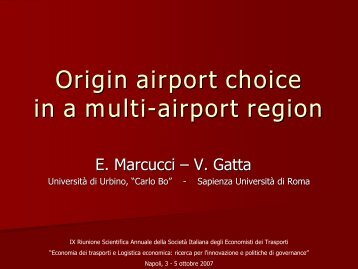 Modelling airport and airline choice behaviour in a multiple airport ...