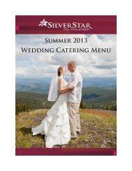 Wedding Catering Menu - Silver Star