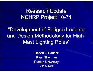 R h U dt R h U dt Research Update NCHRP Project 10 NCHRP ...