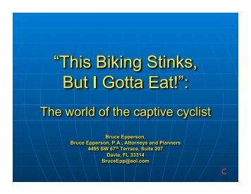 Captive Cyclist — Bruce Epperson - Florida Bicycle Association
