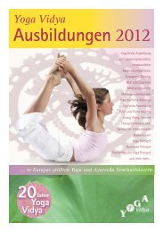 Ausbildungen 2012 - Yoga Vidya