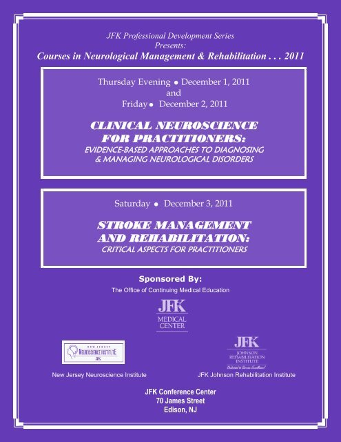 clinical neuroscience for practitioners - JFK Medical Center