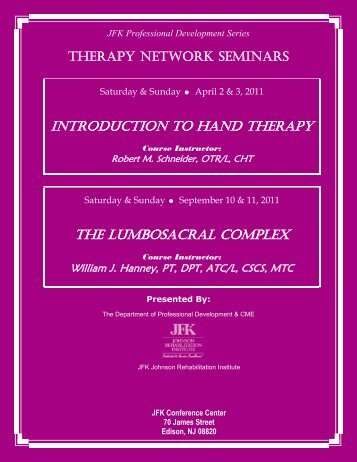 Therapy Network - JFK Medical Center
