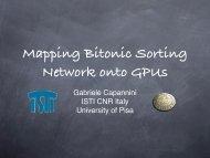 Sorting using bitonic network with CUDA (part 2)