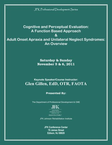 Cognitive and Perceptual Evaluation - JFK Medical Center