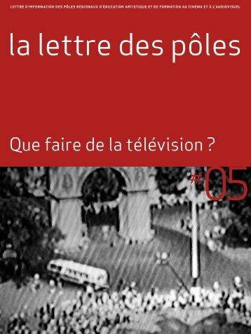 Que faire de la télévision ? - ACAP Cinéma