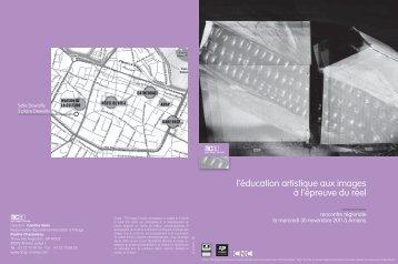 """Programme : """"L'éducation artistique aux images à l'épreuve du réel"""""""