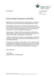 Udkast til ændring af bekendtgørelse om bundmaling - Toreby Sejlklub