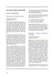 Abstracts fra SMFs årsmøde 2000 Session 1: Biomarkører