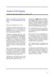 Abstracts af frie foredrag (SMFs årsmøde 15. september 1995)