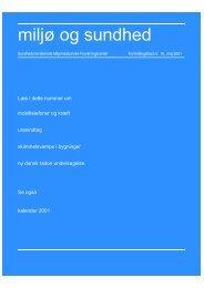 miljø og sundhed nr. 16, maj 2001 (PDF 3,35MB)