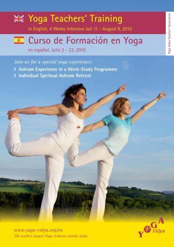 Curso de Formación en Yoga Yoga Teachers' Training - Yoga Vidya