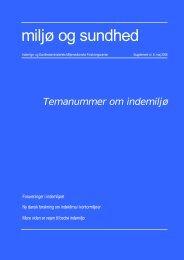 Temanummer om indemiljø - Sundhedsstyrelsens Rådgivende ...