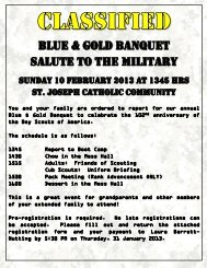 Blue & Gold Flyer - Cub Scout Pack 883
