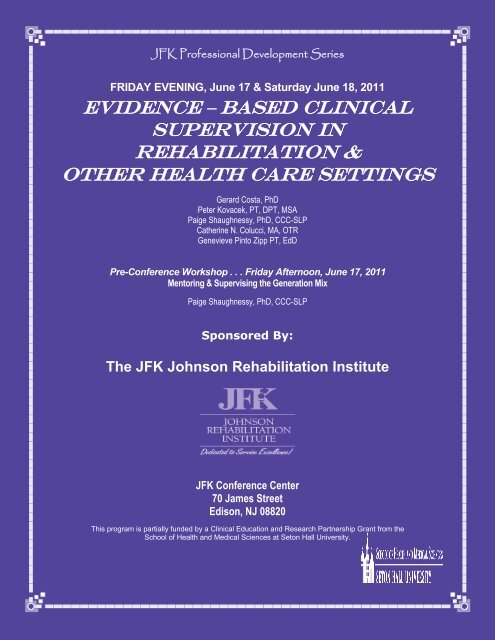 Dedicated To Service Excellence! - JFK Medical Center