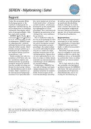 SEREIN - Miljøforskning i Sahel - Info - Aarhus Universitet